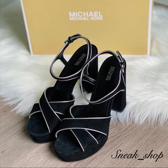 Nwt Lexie Suede Platform Sandal